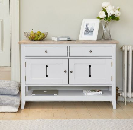 Signature Grey Small Sideboard / Hall Console Shoe Storage Table